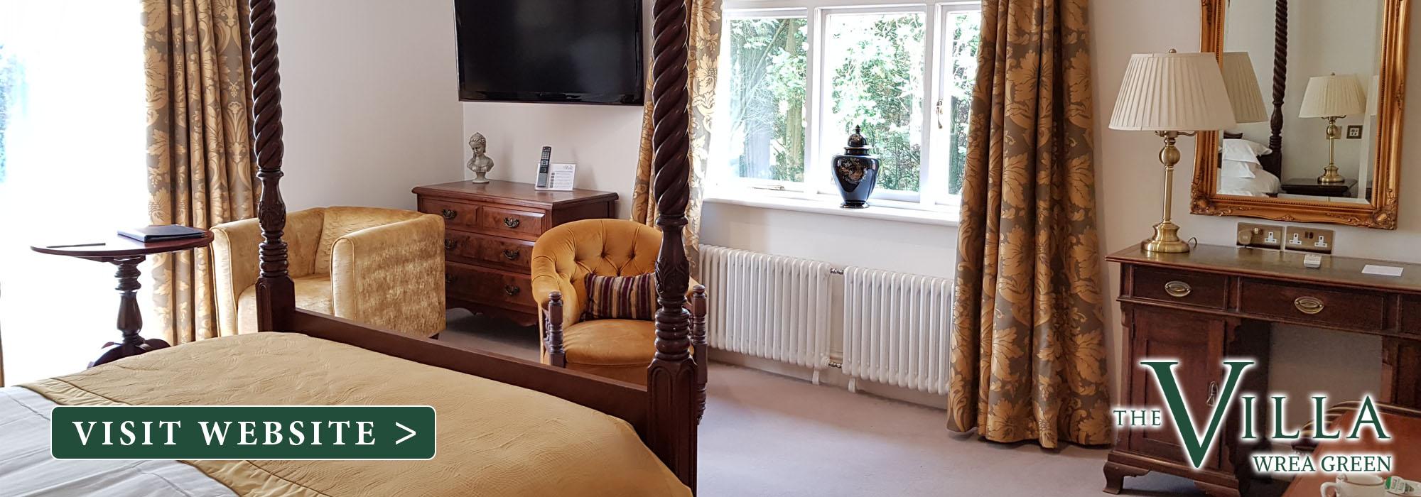 the villa wrea green bedroom
